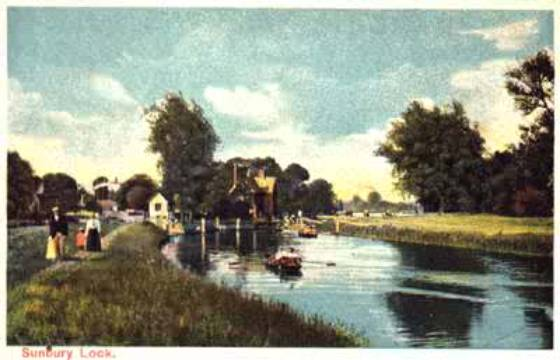 Sunbury Locks, undated