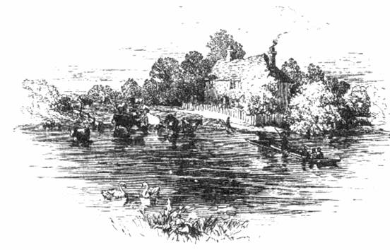 Laleham Ferry in 1859, Mr & Mrs Hall