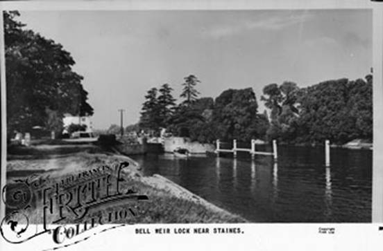1960, Bell Weir Lock, Francis Frith