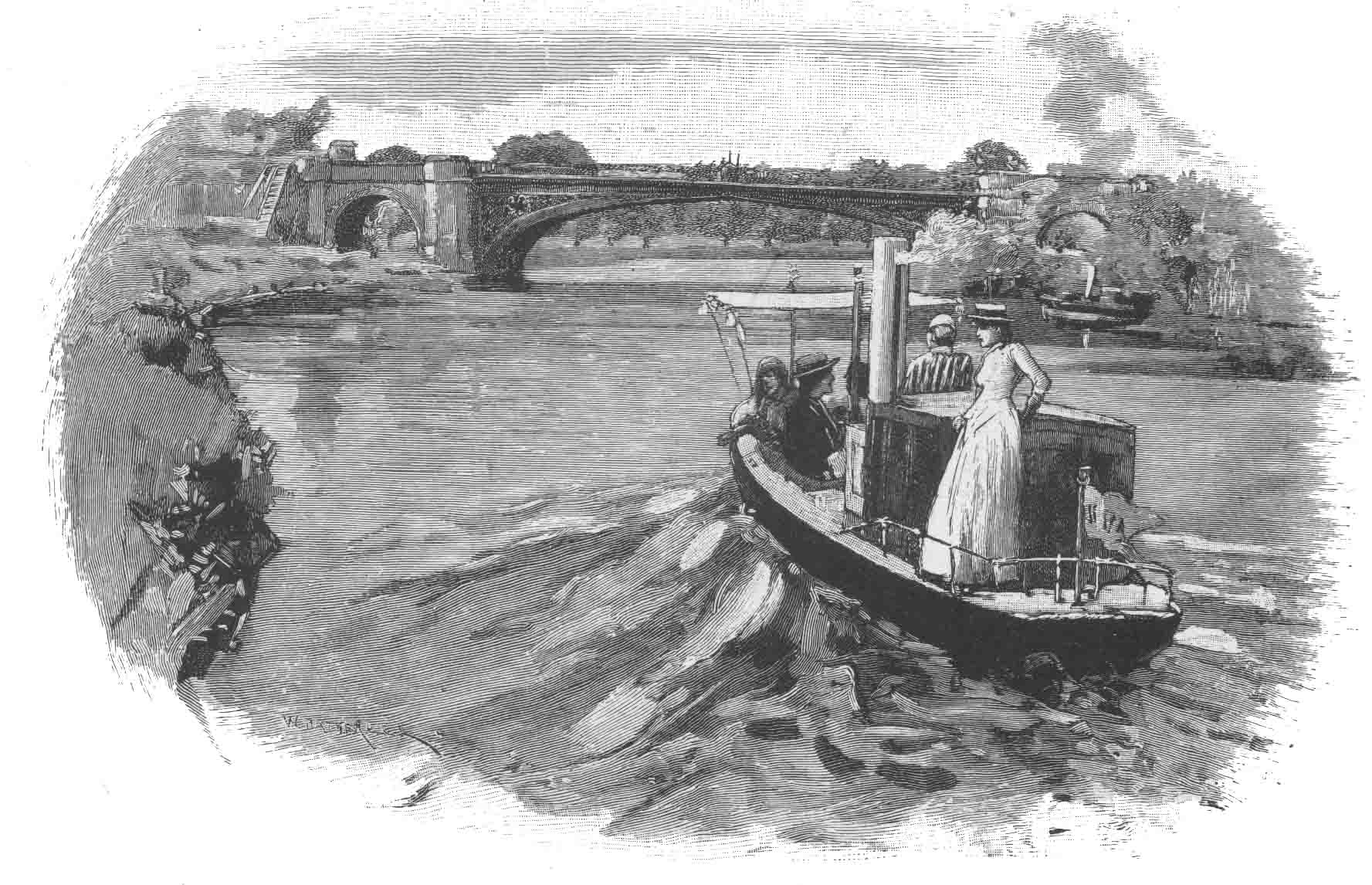 Albert Bridge, 1885