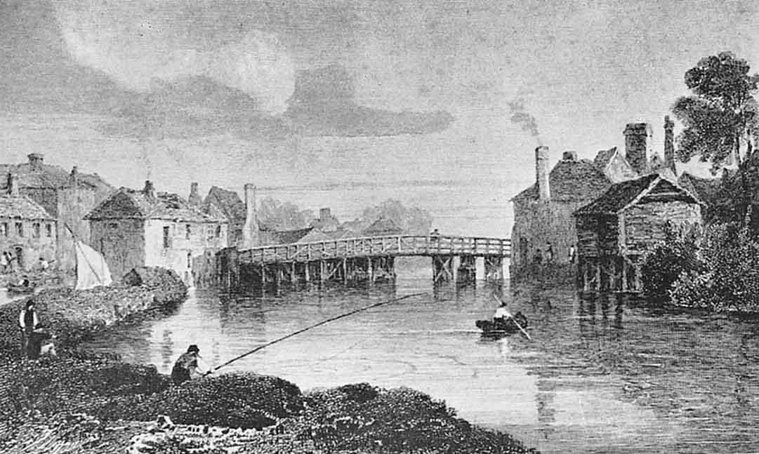 Eton Tower Accident. Eton Bridge, 1811