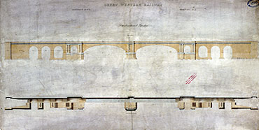 Brunel's design for Maidenhead railway Bridge