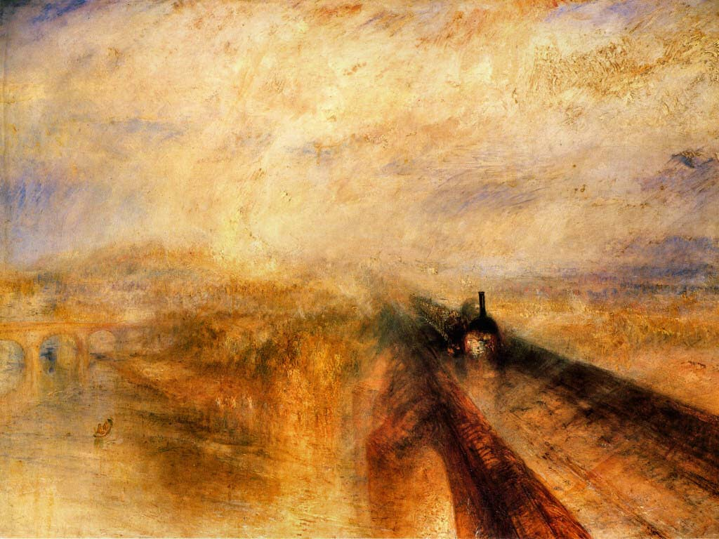 J M W Turner, Rain, Steam and Speed, 1844