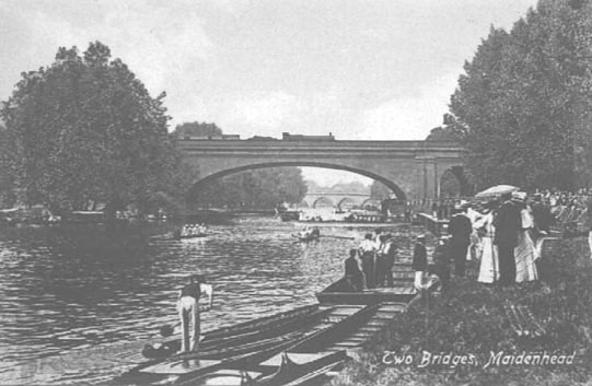 Maidenhead Bridges Postcard