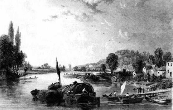 View from Maidenhead Bridge, Tombleson 1836