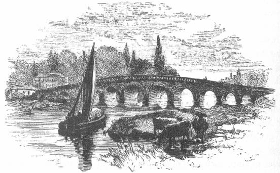 Maidenhead Bridge in 1859