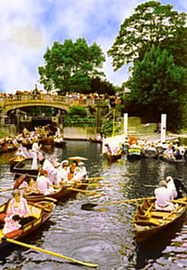 1995 recreation of Boulter's Lock, Sunday Afternoon, 1895 by E J Gregory