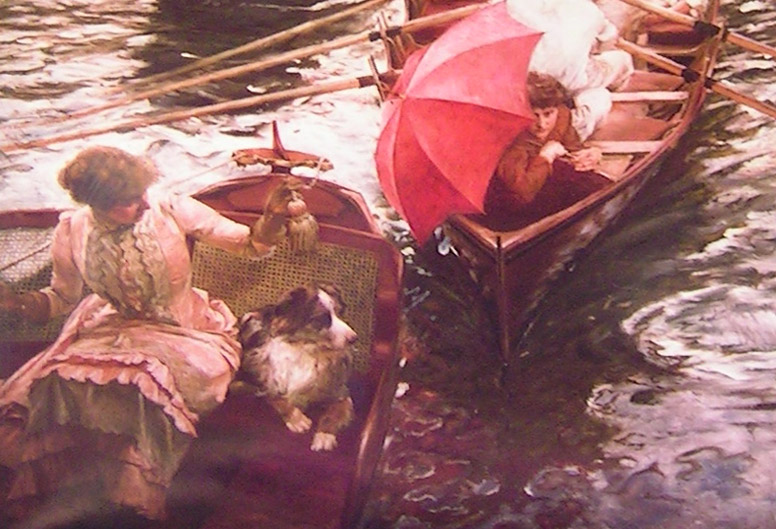 detail 1 from Boulter's Lock, Sunday Afternoon, 1895 by E J Gregory
