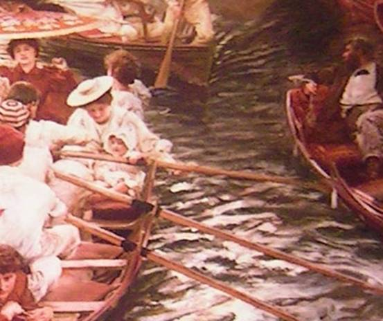 detail 3 from Boulter's Lock, Sunday Afternoon, 1895 by E J Gregory