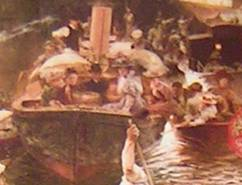 detail 5 from Boulter's Lock, Sunday Afternoon, 1895 by E J Gregory