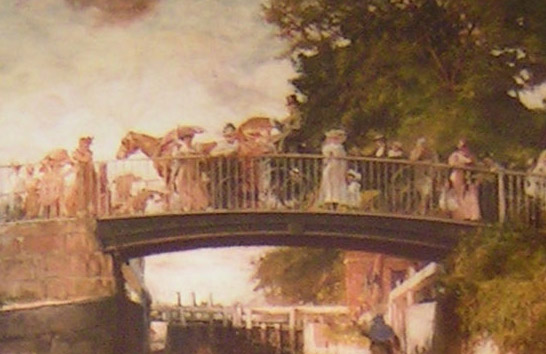 detail 8 from Boulter's Lock, Sunday Afternoon, 1895 by E J Gregory