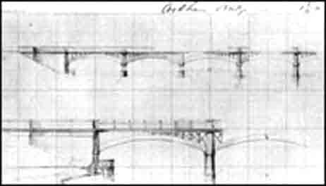 Brunel's rejected design, Cookham Bridge