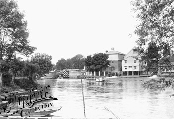 1890:  Marlow Mills and Lock, Francis Frith