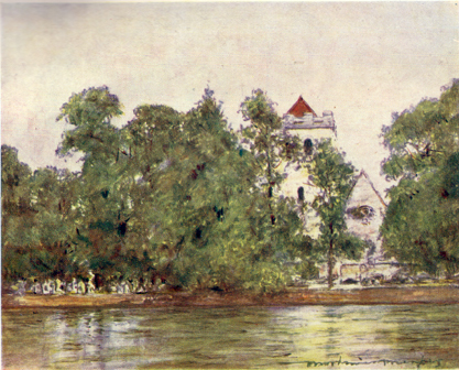 Bisham Church & Abbey, Mortimer Menpes, 1906