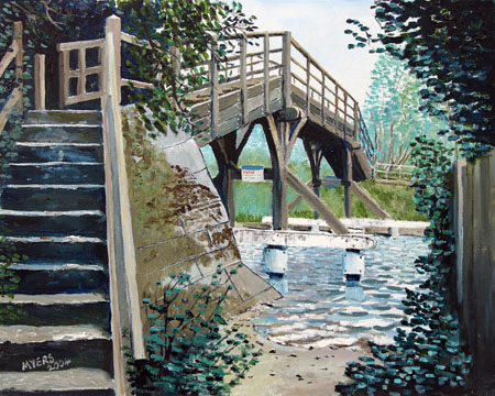 Hurley Lock Cut Upper Footbridge, Doug Myers © 2005