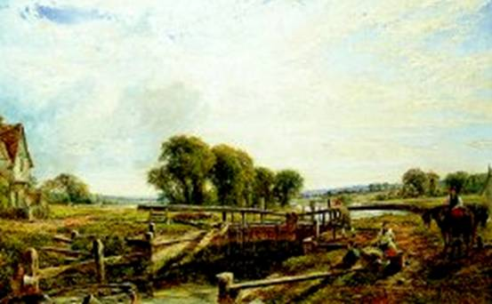 Lock near Henley, William W Gosling, 1824-1883