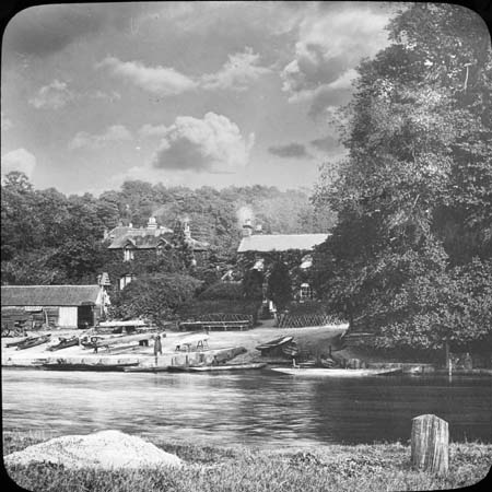 George and Dragon, Wargrave, lantern slide by W Parker, 1911