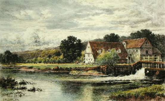 Streatley Mill, Benjamin Williams Leader, 1904