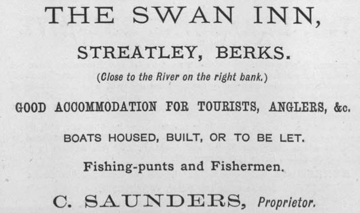 1873 Advert Swan at Streatley
