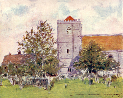 Dorchester Abbey, Mortimer Menpes, 1906