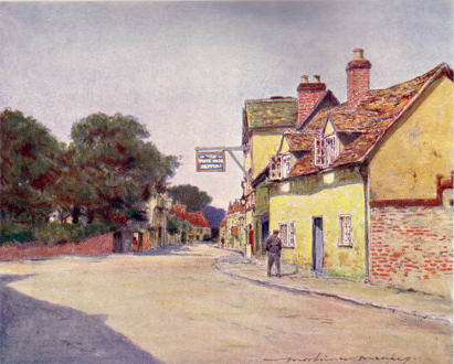 Dorchester, The White Hart Hotel, Mortimer Menpes, 1906