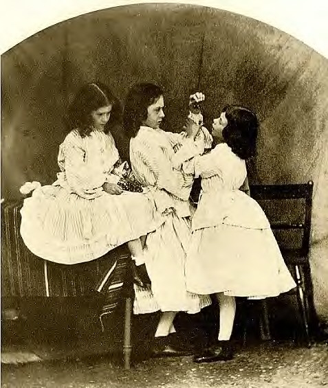 Edith, Lorina and Alice Liddell