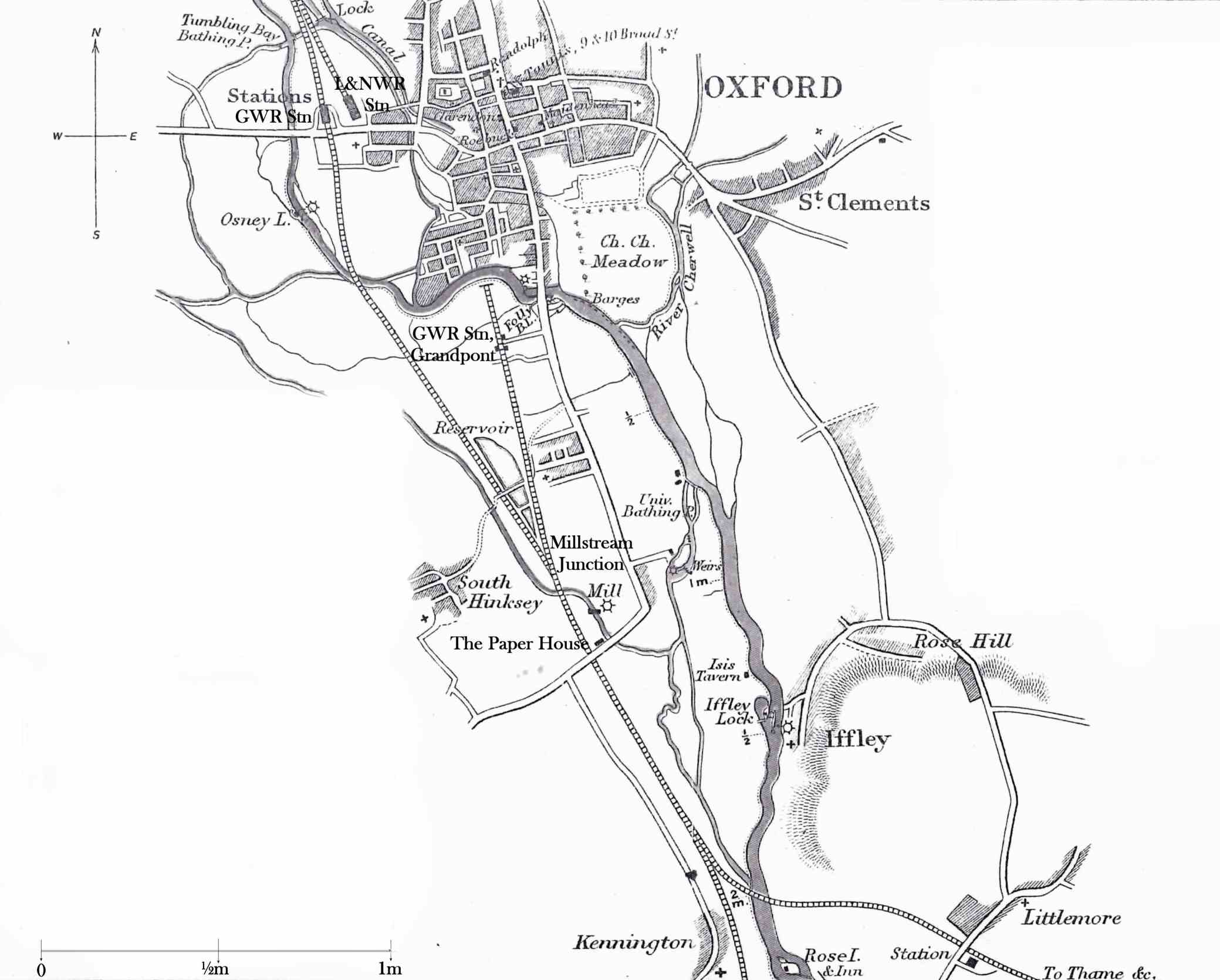 Taunt's Map of Oxford Railways, 1879