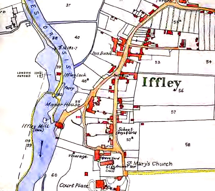 1874: Map of the Old Iffley Lock