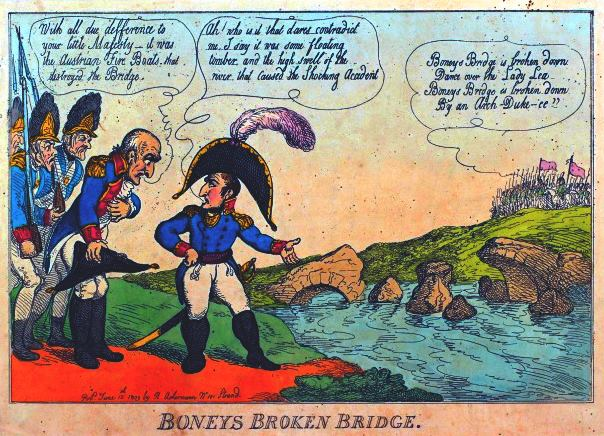 Boneys Broken Bridge by Thomas Rowlandson 1809