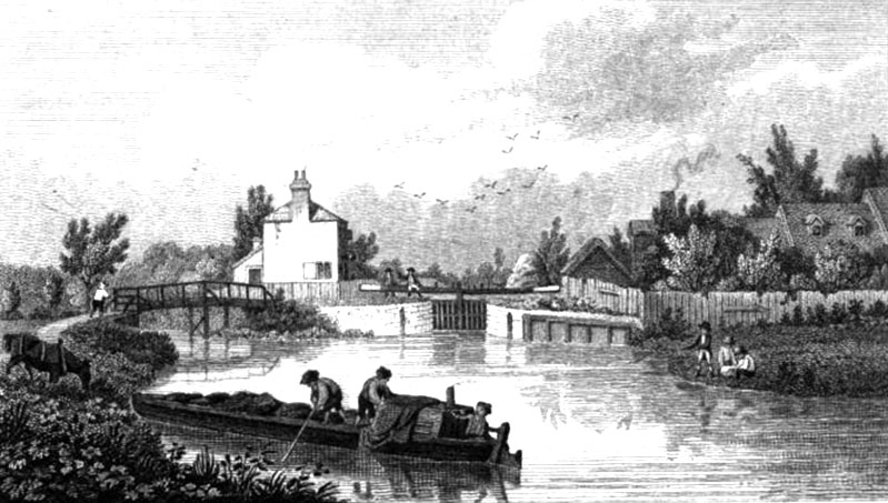 Osney Lock, 1822