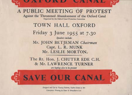 Save our Canal Poster, 1955