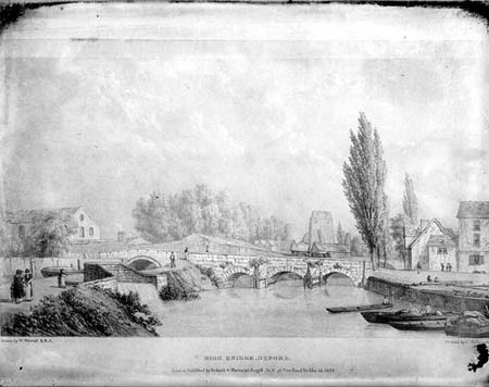 Hythe Bridge & Canal Terminus,Westall/Taunt, 1822