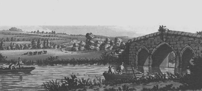 Radcot Bridge, Samuel Ireland, 1791