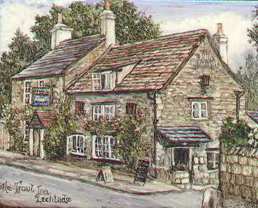Painting of the Trout Inn