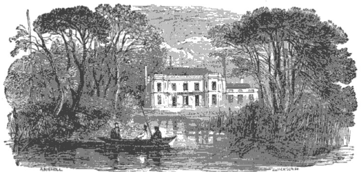 Barn Elms House from The Tiber and the Thames, 1876