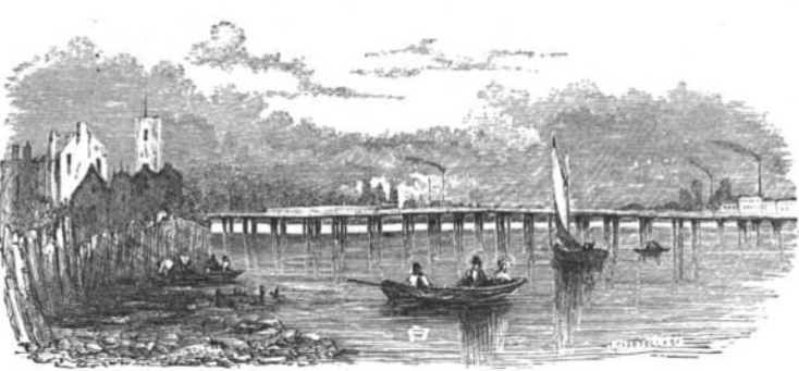 Battersea Bridge from The Tiber and the Thames, 1876