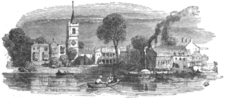 Fulham from The Tiber and the Thames, 1876