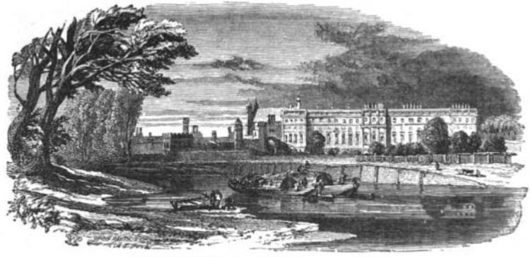 Hampton Court Viewed from River from Tiber and Thames, 1876
