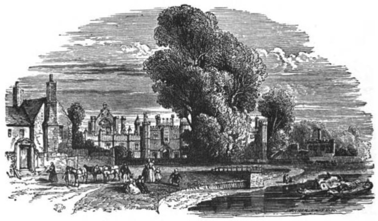 Hampton Court West Front from Tiber and Thames, 1876