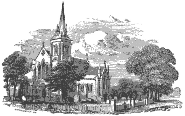 Hanwell Church from The Tiber and the Thames, 1876