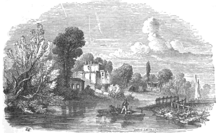 Lady Howe's Villa, 1842 from The Tiber and the Thames, 1876