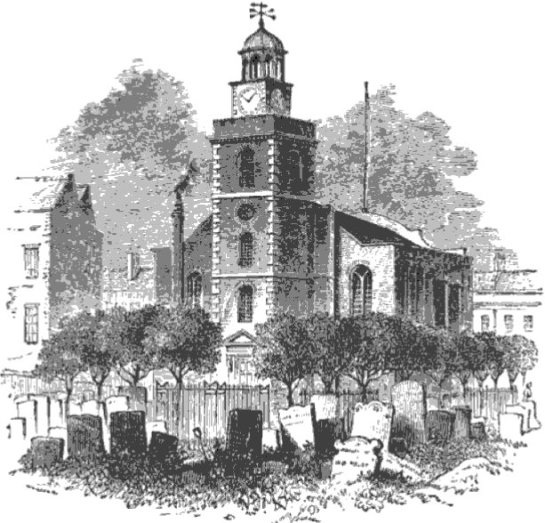 Kensington Church from The Tiber and the Thames, 1876