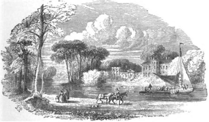 Orleans House from The Tiber and the Thames, 1876