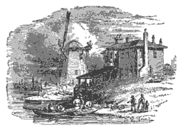 Battersea Red House from The Tiber and the Thames, 1876