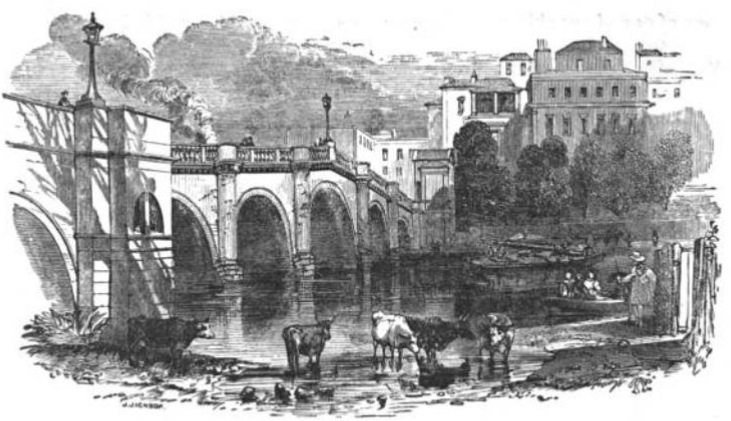 Richmond Bridge from The Tiber and the Thames, 1876