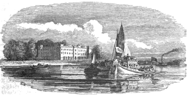 Sion House from The Tiber and the Thames, 1876
