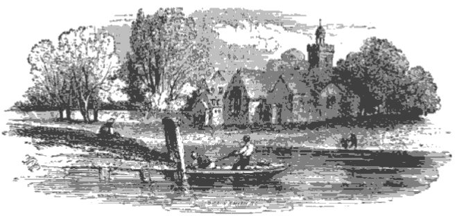 Teddington Church from The Tiber and the Thames, 1876