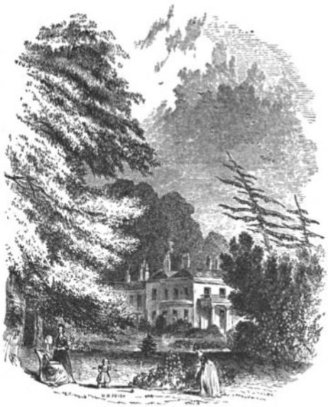 Wimbledon House from The Tiber and the Thames, 1876