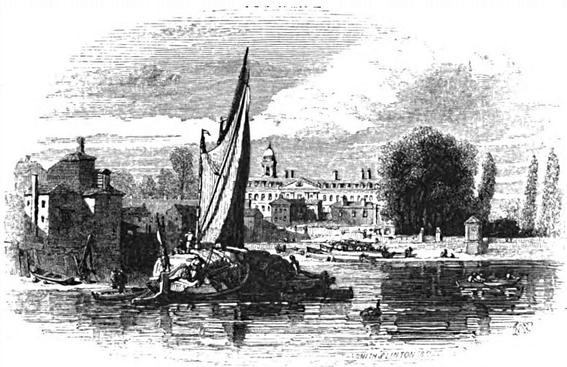 Chelsea from the River, Picturesque Thames,Murray,1845