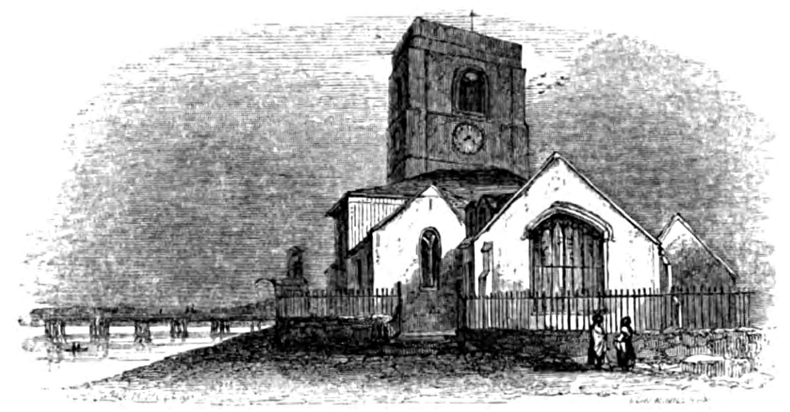 Chelsea Church, Picturesque Thames,Murray,1845